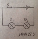 Bài 27.7 trang 69 Sách bài tập (SBT) Vật lí 7