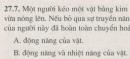 Bài 27.7 trang 75 Sách bài tập (SBT) Vật lí 8