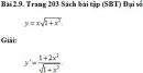 Bài 2.9 trang 203 Sách bài tập (SBT) Đại số và giải tích 11