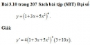 Bài 3.10 trang 207 Sách bài tập (SBT) Đại số và giải tích 11