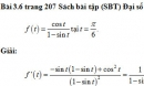 Bài 3.6 trang 207 Sách bài tập (SBT) Đại số và giải tích 11