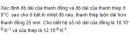 Bài VII.5 trang 93 Sách bài tập (SBT) Vật lí 10
