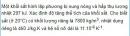 Bài VII.6 trang 93 Sách bài tập (SBT) Vật lí 10