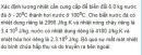 Bài VII.8 trang 94 Sách bài tập (SBT) Vật lí 10