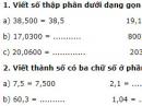 Câu 1, 2, 3, 4 trang 48 Vở bài tập (VBT) Toán lớp 5 tập 1