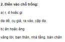 Chính tả - Tuần 4 trang 14 Vở bài tập (VBT) Tiếng Việt lớp 2 tập 1