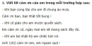 Tập làm văn - Tuần 4 trang 17 Vở bài tập (VBT) Tiếng Việt lớp 2 tập 1