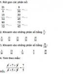 Câu 1, 2, 3, 4, 5 trang 21 Vở bài tập (VBT) Toán 4 tập 2