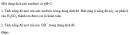 Bài 1.27 trang 7 Sách bài tập (SBT) Hóa học 11 Nâng cao