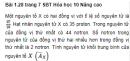 Bài 1.28 trang 7 Sách bài tập (SBT) Hóa học 10 Nâng cao