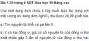 Bài 1.30 trang 8 Sách bài tập (SBT) Hóa học 10 Nâng cao