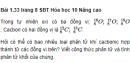 Bài 1.33 trang 8 Sách bài tập (SBT) Hóa học 10 Nâng cao