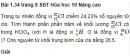 Bài 1.34 trang 8 Sách bài tập (SBT) Hóa học 10 Nâng cao