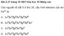 Bài 2.37, 2.38, 2.39 trang 19 Sách bài tập (SBT) Hóa học 10 Nâng cao