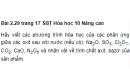 Bài 2.29 trang 17 Sách bài tập (SBT) Hóa học 10 Nâng cao