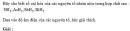 Bài 2.3 trang 12 Sách bài tập (SBT) Hóa học 11 Nâng cao