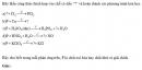 Bài 2.44 trang 20 Sách bài tập (SBT) Hóa học 11 Nâng cao