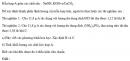 Bài 2.51 trang 22 Sách bài tập (SBT) Hóa học 11 Nâng cao