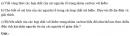 Bài 3.2 trang 25 Sách bài tập (SBT) Hóa học 11 Nâng cao