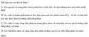 Bài 4.33 trang 36 Sách bài tập (SBT) Hóa học 11 Nâng cao