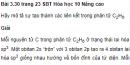 Bài 3.30 trang 23 Sách bài tập (SBT) Hóa học 10 Nâng cao