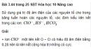 Bài 3.44 trang 25 Sách bài tập (SBT) Hóa học 10 Nâng cao