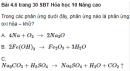 Bài 4.6, 4.7, 4.8 trang 30 Sách bài tập (SBT) Hóa học 10 Nâng cao