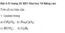 Bài 4.11 trang 30 Sách bài tập (SBT) Hóa học 10 Nâng cao