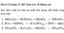 Bài 4.12 trang 30 Sách bài tập (SBT) Hóa học 10 Nâng cao
