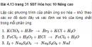 Bài 4.13 trang 31 Sách bài tập (SBT) Hóa học 10 Nâng cao