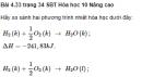 Bài 4.33 trang 34 Sách bài tập (SBT) Hóa học 10 Nâng cao
