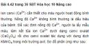 Bài 4.42 trang 36 Sách bài tập (SBT) Hóa học 10 Nâng cao
