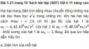 Bài 1.23 trang 10 Sách bài tập (SBT) Vật lí 11 Nâng cao