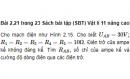 Bài 2.21 trang 23 Sách bài tập (SBT) Vật lí 11 Nâng cao