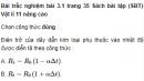 Bài trắc nghiệm bài 3.1, 3.2, 3.3, 3.4, 3.5 trang 35 Sách bài tập (SBT) Vật lí 11 Nâng cao
