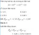 Câu 5.14 trang 36 Sách bài tập (SBT) Hoá Nâng cao