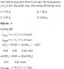 Câu 6.50 trang 57 Sách bài tập (SBT) Hóa Nâng cao