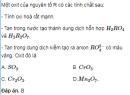 Bài 7.10 trang 61 Sách bài tập (SBT) Hóa 12 Nâng cao.