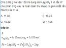 Bài 7.17 trang 61 Sách bài tập (SBT) Hóa 12 Nâng cao.