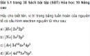 Bài 5.1 trang 38 Sách bài tập (SBT) Hóa học 10 Nâng cao