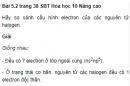 Bài 5.2 trang 38 Sách bài tập (SBT) Hóa học 10 Nâng cao