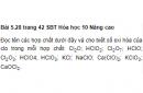 Bài 5.28 trang 42 Sách bài tập (SBT) Hóa học 10 Nâng cao
