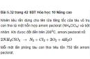 Bài 5.32 trang 42 Sách bài tập (SBT) Hóa học 10 Nâng cao