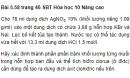 Bài 5.58 trang 46 Sách bài tập (SBT) Hóa học 10 Nâng cao