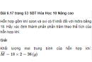 Bài 6.17 trang 53 Sách bài tập (SBT) Hóa học 10 Nâng cao