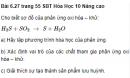 Bài 6.27 trang 55 Sách bài tập (SBT) Hóa học 10 Nâng cao