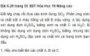 Bài 6.29 trang 55 Sách bài tập (SBT) Hóa học 10 Nâng cao