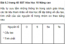 Bài 6.3 trang 48 Sách bài tập (SBT) Hóa học 10 Nâng cao
