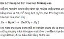 Bài 6.31 trang 56 Sách bài tập (SBT) Hóa học 10 Nâng cao
