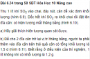 Bài 6.34 trang 58 Sách bài tập (SBT) Hóa học 10 Nâng cao